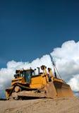 tungt arbete för bulldozerarbetsuppgift Royaltyfri Fotografi