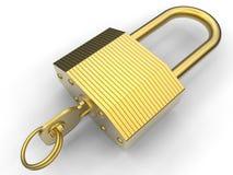 Tungt guld- lås vektor illustrationer