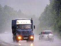 Tungt häftigt regn arkivfoton