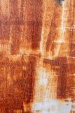 Tungt korrugerad rödaktig textur för metallplatta arkivbilder
