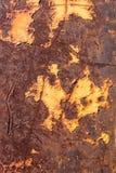Tungt korrugerad rödaktig textur för metallplatta royaltyfri fotografi