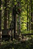 Tungt maskineri för geologisk utgrävning av prövkopior royaltyfri foto