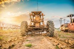 Tungt maskineri på konstruktionsplatsen arkivbilder