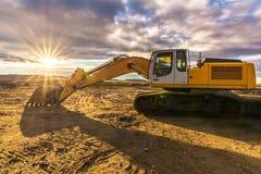 Tungt och yrkesmässigt konstruktionsmaskineri royaltyfri foto