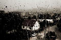 tungt regn Arkivbild