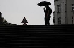 TUNGT REGNIGT VÄDER I DEN BERLIN TYSKLAND Arkivbilder