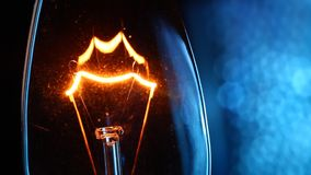 Tungten Bulb. Close up of a Tungsten bulb stock video footage