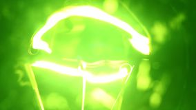 Tungten Bulb. Close up of a Tungsten bulb stock footage