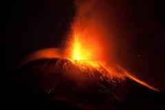 Tungurahua Erupting Horizontal Stock Image