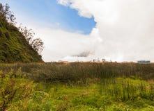 Tungurahua-Explosion im August 2014 Tageslicht stockfotografie