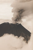 Tungurahua Volcano Crater. February 2016 Powerful Eruption, South America Stock Photography