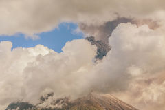 Tungurahua Volcano Day Activity Royalty Free Stock Image