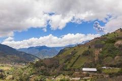 Tungurahua volcano day explosion Royalty Free Stock Images