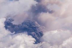 Tungurahua volcano day explosion Stock Photos