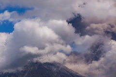 Tungurahua Volcano, South America. Tungurahua Volcano Intermittent Ash Emissions, South America Royalty Free Stock Photos