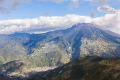 Tungurahua volcano day explosion Stock Image
