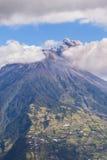 Tungurahua volcano day explosion Stock Photo