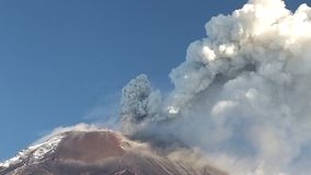 Tungurahua Volcano Eruption. Tungurahua Volcano In Ecuador, High Pressure Gases And Ash Is Blown Into The Sky stock video footage