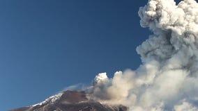 Tungurahua Volcano Eruption. Tungurahua Volcano In Ecuador, High Pressure Gasses And Ash Is Blown Into The Sky stock video footage