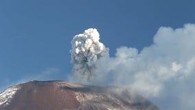 Tungurahua Volcano Eruption. Tungurahua Volcano In Ecuador, High Pressure Gasses And Ash Is Blown Into The Sky stock video