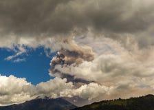 Tungurahua volcano explosion, august 2014 Royalty Free Stock Image