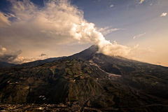 Tungurahua volcano, Banos De Agua Santa, Ecuador Stock Images