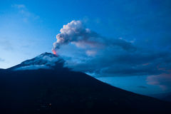 Tungurahua volcano explosion Royalty Free Stock Photography