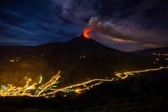 Tungurahua volcano explosion Royalty Free Stock Images