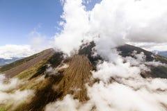 Tungurahua Volcano Helicopter Shot Fotografia Stock Libera da Diritti