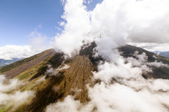Tungurahua Volcano Helicopter Shot. Helicopter Shot Of Tungurahua Volcano Ecuador Royalty Free Stock Photography
