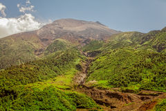 Tungurahua Volcano, High Altitude, South America stock image