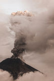 Tungurahua Volcano, Intense Strombolian Activity Royalty Free Stock Images