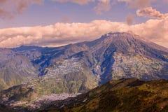 Tungurahua Volcano Smoking Ash Stock Photography
