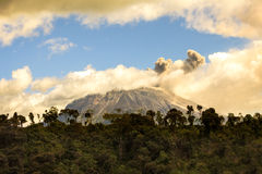 Tungurahua Volcano Spewing Restive Plumes Of Ash. Ecuador Tungurahua Volcano Spewing Restive Plumes Of Ash And Gas Far Above Its Crater, South America Stock Photography