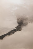 Tungurahua Volcano Spews Columns Of Ash And Smoke Stock Photography