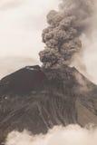Tungurahua Volcano Spews Smoke And Ash. In Fiery Eruption, February 2016, Ecuador Stock Photos