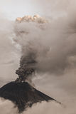 Tungurahua Volcano Spews Smoke And Ash. In Fiery Eruption, February 2016, South America Stock Photos
