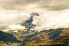 Tungurahua Volcano Surroundings Royalty Free Stock Photos