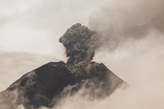 Tungurahua Volcano Telephoto Sunset Shot Stock Photography