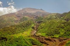Tungurahua wulkan, duża wysokość, Ameryka Południowa Obraz Stock