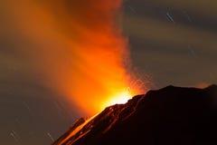 Tungurahua wulkan Ekwador Zdjęcia Stock