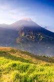 Tungurahua wulkan Na milczka dniu Obrazy Royalty Free