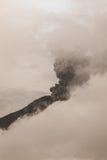 Tungurahua wulkan Rzyga kolumny popiół I dym Fotografia Stock