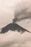 Tungurahua wulkan Rzyga Stopione skały Obrazy Stock