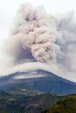 Tungurahua wulkanu erupcja Fotografia Royalty Free
