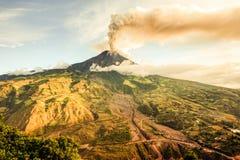 Tungurahua wulkanu krajobraz Zdjęcie Royalty Free