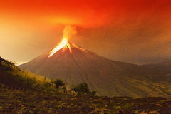 Tungurahua wulkanu Ogromna erupcja Obraz Stock