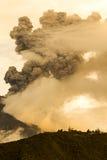 Tungurahua wulkanu wybuch Zdjęcie Stock