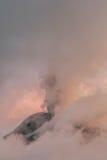 Tungurahua wulkanu zmierzchu Potężny wybuch Zdjęcia Stock