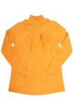 Tunica e maglione gialli moderni su un bianco. Immagine Stock